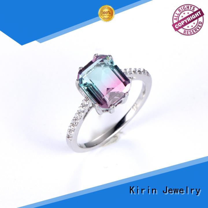 Wholesale woman opal 925 sterling silver rings Kirin Jewelry Brand