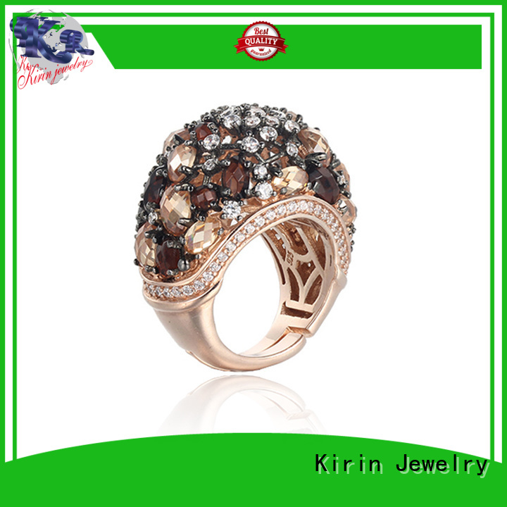 Kirin Jewelry Brand charming spring 925 sterling silver jewelry rings cocktail supplier