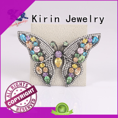 sapphire big sterling silver brooches and pins Kirin Jewelry Brand