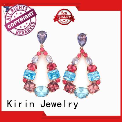 setting luxury bridal Kirin Jewelry Brand gold jewellery earrings factory