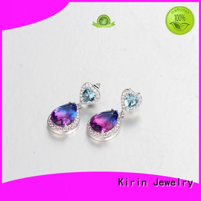 Custom gold prong setting jewelry zircon Kirin Jewelry