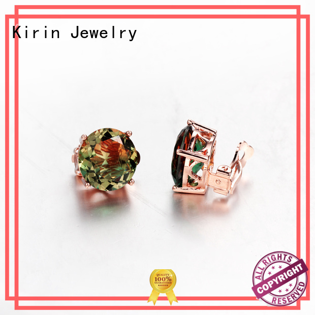 Kirin Jewelry Brand exquisite cut 925 sterling silver earrings womens factory